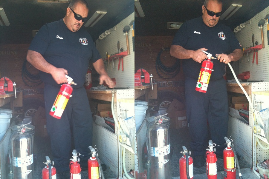 Bubba's Fire Extinguisher installation